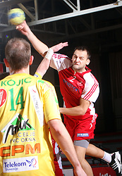 Boris Becirovic of Slovan at 15th round of Slovenian Handball MIK 1st league match between RD Slovan and RK Celje Pivovarna Lasko, on February 6, 2009, in Kodeljevo, Ljubljana, Slovenia. Win of RK Slovan 18:17. (Photo by Vid Ponikvar / Sportida)