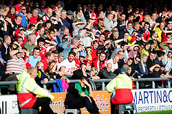 Away following at Crewe - Photo mandatory by-line: Dougie Allward/JMP - Tel: Mobile: 07966 386802 19/10/2013 - SPORT - FOOTBALL - Alexandra Stadium - Crewe - Crewe V Bristol City - Sky Bet League One