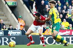 Josh Brownhill of Bristol City battles for possession with Jamal Lewis of Norwich City - Mandatory by-line: Phil Chaplin/JMP - FOOTBALL - Carrow Road - Norwich, England - Norwich City v Bristol City - Sky Bet Championship