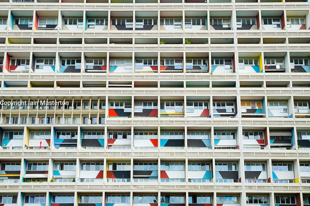 External view of Corbusierhaus modernist apartment building built as Unite d'habitation in Berlin Germany