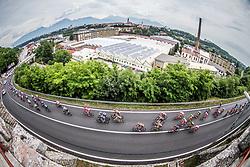 Peloton in Kranj during Stage 2 of 24th Tour of Slovenia 2017 / Tour de Slovenie from Ljubljana to Ljubljana (169,9 km) cycling race on June 16, 2017 in Slovenia. Photo by Vid Ponikvar / Sportida