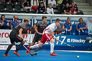 England's Ian Sloan. England v The Netherlands - Semi Final - Hockey World League Semi Final, Lee Valley Hockey and Tennis Centre, London, United Kingdom on 24 June 2017. Photo: Simon Parker