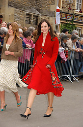 LADY ROSE INNES-KER at the wedding of Laura parper Bowles to Harry Lopes held at Lacock, Wiltshire on 6th May 2006.<br />