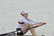 Eton, United Kingdom  GBR W1X.  Fran HOUGHTON, at the start of the women's single sculls  time trial,  at the 2012 GB Rowing Senior Trials, Dorney Lake. Nr Windsor, Berks.  Saturday  10/03/2012  [Mandatory Credit; Peter Spurrier/Intersport-images]