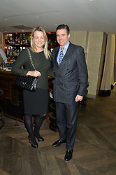 Chef SOPHIE MICHELL and EDWARD TAYLOR at the 3rd birthday party for Spectator Life magazine hosted by Andrew Neil and Olivia Cole held at the Belgraves Hotel, 20 Chesham Place, London on 31st March 2015.