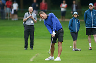Teddy Sheringham with a shot to the green during the Celebrity Pro-Am day at Wentworth Club, Virginia Water, United Kingdom on 23 May 2018. Picture by Phil Duncan.