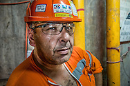 China / Hong Kong<br /> <br /> French Engineer Emmanuel Clech at MTR West Island Line SHW to SYP Tunnels construction site <br /> <br /> © Daniele Mattioli China Corporate photographer for Bouygues/Dragages