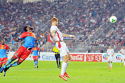 September 1, 2017 - Tunis, Tunisia - Fakhreddine ben Youssef(8) of Tunisia and Issam Mpeko(2) of Congo during the qualifying match for the World Cup Russia 2018 between Tunisia and the Democratic Republic of Congo (RD Congo) at the Rades stadium in Tunis. (Credit Image: © Chokri Mahjoub via ZUMA Wire)