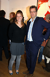 LAURA PARKER BOWLES and CHARLES PHILLIPS at a private view of artist Natasha Law's work entitled 'Hold' held at Eleven, 11 Eccleston Street, London SW1 on 12th January 2006.<br />