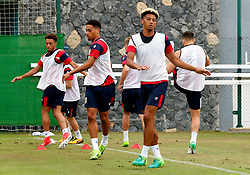Lloyd Kelly of Bristol City warms up with team mates - Mandatory by-line: Matt McNulty/JMP - 21/07/2017 - FOOTBALL - Tenerife Top Training Centre - Costa Adeje, Tenerife - Pre-Season Training