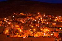 The city of Petra (Wadi Musa), Jordan at night.