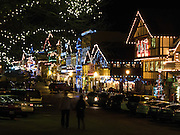 The town of Leavenworth brightens winter with colorful electric lights. A good time to visit is during the fun family events of Leavenworth Bavarian Ice Fest in January, Washington, USA.