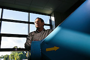 Portrait de M. Mauer, directeur entreprise Airplus // Portrait of M. Mauer, the director of the company Airplus, France.