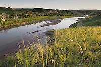 Evening light over the Little Missouri River, Theodore Rossevelt National Park, North Dakota