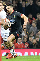 Rugby Union - 2017 Under Armour Series (Autumn Internationals) - Wales vs. Georgia<br /> <br /> Rhys Webb of Wales  attacks, at The Principality Stadium (Millennium Stadium), Cardiff.<br /> <br /> COLORSPORT/WINSTON BYNORTH