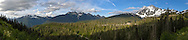 Mount Larrabee, Mount Sefrit and Mount Shuksan at the Mount Baker-Snoqualmie National Forest in Washington State, USA.