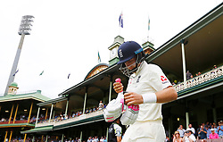 England's Joe Root walks out to bat during day five of the Ashes Test match at Sydney Cricket Ground.
