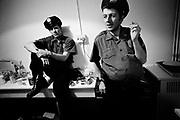 1986 Big Audio Dynamite - Medicine Show Video Shoot. Paul Simonon and Strummer