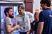 Gianmarco Pozzecco, Sandro De Pol, Andrea Meneghin<br /> Banco di Sardegna Dinamo Sassari - Umana Reyer Venezia<br /> LBA Serie A Postemobile 2018-2019 Playoff Finale Gara 6<br /> Sassari, 20/06/2019<br /> Foto L.Canu / Ciamillo-Castoria