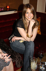 Singer RACHEL STEVENS at a party hosted by jewellers Adler to celebrate 20 years in London held at 5 Cavendish Square, London on 4th May 2005.<br />