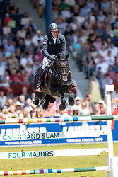 DREHER Hans-Dieter (GER), Embassy II<br /> Aachen - CHIO 2018<br /> Rolex Grand Prix 1. Umlauf<br /> Der Grosse Preis von Aachen<br /> 22. Juli 2018<br /> © www.sportfotos-lafrentz.de/Stefan Lafrentz
