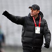 IBBSpor's coach Abdullah AVCI during their Turkish soccer superleague match IBBSpor between Genclerbirligi at the Ataturk Olympic stadium in Istanbul Turkey on Saturday 12 February 2011. Photo by TURKPIX