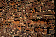 """Gallarate. Lombardia. ITALY. General Views, """"Crumbling Brickwork"""", """"Time and Weather"""", damage to the brick structure, Italy<br />  <br /> Friday  30/12/2016<br /> <br /> © Peter SPURRIER,<br /> <br /> <br /> LEICA CAMERA AG - LEICA Q (Typ 116) - 1/8000 - f1.7"""