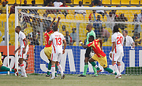 Photo: Steve Bond/Richard Lane Photography.<br />Guinea v Morocco. Africa Cup of Nations. 24/01/2008. Fode Mansare' s free kick enters the net for Guinea's opener