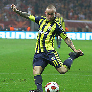 Fenerbahce's Mirosloav STOCH during their Turkish superleague soccer derby match Galatasaray between Fenerbahce at the Turk Telekom Arena in Istanbul Turkey on Friday, 18 March 2011. Photo by TURKPIX