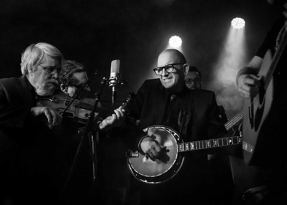 Music Photographer Raymond Rudolph documents bluegrass band The Earl Brothers play a concert at Amnesia in San Francisco