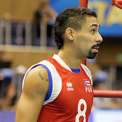 September 12, 2018 - Varna, Bulgaria - Eddie RIVERA (Puerto Rico), .FIVB Volleyball Men's World Championship 2018, pool D, Iran vs Puerto Rico,. Palace of Culture and Sport, Varna/Bulgaria, .the teams of Finland, Cuba, Puerto Rico, Poland, Iran and co-host Bulgaria are playing in pool D in the preliminary round. (Credit Image: © Wolfgang Fehrmann/ZUMA Wire)