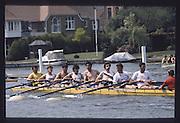 Henley on Thames. Henley,  United Kingdom. <br /> GBR M8+. Bow, Martin CROSS, Tim FOSTER, Richard PHELPS, Jim WALKER, Gavin STEWART, Terry DILLON, Matthew PINSENT and Peter MULKERRINS and cox, Garry HERBERT. GBR rowing Team Training on Henley Reach, England.<br /> [Mandatory Credit; Peter SPURRIER/Intersport Images] 1990 GBRowing Training on Henley Re 1990 GBRowing Training on Henley Reach. UK
