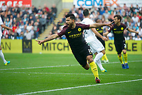 Football - 2016 /2017 Premier League - Swansea City vs Manchester City<br /> <br /> Sergio Aguero of Manchester City celebrates scoring his team's first goal…. at the Liberty Stadium.<br /> <br /> <br /> PIC COLORSPORT/WINSTON BYNORTH