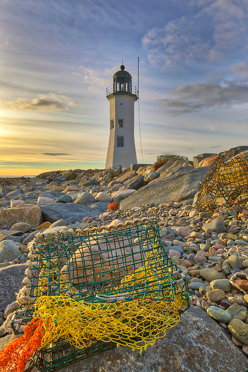 New England photography of Scituate Lighthouse at sunrise. This beautiful Massachusetts lighthouse is located on Cedar Point in Scituate Massachusetts.<br /> <br /> Picturesque New England lighthouse photography image are available as museum quality photography prints, canvas prints, acrylic prints, wood prints or metal prints. Fine art prints may be framed and matted to the individual liking and interior design decorating needs:<br /> <br /> https://juergen-roth.pixels.com/featured/old-scituate-lighthouse-juergen-roth.html<br /> <br /> Good light and happy photo making!<br /> <br /> My best,<br /> <br /> Juergen<br /> Photo Prints: http://www.rothgalleries.com<br /> Photo Blog: http://whereintheworldisjuergen.blogspot.com<br /> Instagram: https://www.instagram.com/rothgalleries<br /> Twitter: https://twitter.com/naturefineart<br /> Facebook: https://www.facebook.com/naturefineart