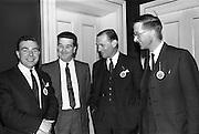 28/04/1964<br /> 04/28/1964<br /> 28 April 1964<br /> Watney Sales Conference at the Shelbourne Hotel, Dublin. At the conference were (l-r): Mr. B.T. White; ?: Mr. E.C. Handel and Mr. E. Plunkett.