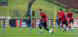 CARDIFF, WALES - Tuesday, March 23, 2021: Wales' Ethan Ampadu during a training session at the Vale Resort ahead of the FIFA World Cup Qatar 2022 Qualifying game against Belgium. (Pic by David Rawcliffe/Propaganda)