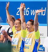 Poznan,  POLAND,  Sunday, 19/06/2016, Women's Double Scull, Gold Medalist, POL W2X Bow Magdalena Fularczyk-Kozlowska, Natalia Madaj,  FISA World Cup III, Malta Lake.  FISA World Cup III, Malta Lake.[Mandatory Credit; Peter SPURRIER/Intersport-images]
