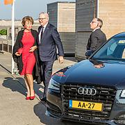 NLD/Katwijk/20170403 - 100ste geboortedag Erik Hazelhoff Roelfzema, aankomst Margriet en partner Mr. Pieter van Vollenhoven