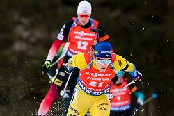 March 24, 2019 - Oslo, NORWAY - 190324 Sebastian Samuelsson competes in the men's 15 km mass start during the IBU World Cup on March 24, 2019 in Oslo..Photo: Jon Olav Nesvold / BILDBYRÃ…N / kod JE / 160428 (Credit Image: © Jon Olav Nesvold/Bildbyran via ZUMA Press)