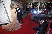 Hoofdrolspelers Sylvia Hoeks en Marcel Musters van de openingsfilm De Bende van Oss poseren voor fotografen op de rode loper tijdens de opening van het Nederlands Film Festival in Utrecht.<br /> <br /> The actors of the movie De Bende van Oss, Sylvia Hoeks and Marcel Musters, are posing for the photographers at the opening of the Dutch Film Festival NFF.