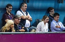 PORTOROZ, SLOVENIA - SEPTEMBER 17:   David Kastelic of Zavarovalnica Sava  at quarterfinal match of the WTA 250 Zavarovalnica Sava Portoroz at SRC Marina, on September 17, 2021 in Portoroz / Portorose, Slovenia. Photo by Vid Ponikvar / Sportida