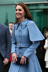 The Duchess of Cambridge leave after their visit to the Braids Arts Centre in Ballymena to see the workings of the CineMagic charity as part of their two day visit to Northern Ireland.