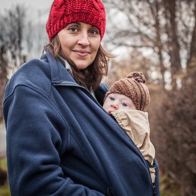 Stacy Schitz Reece and her four month old son, Jack, South Addition, Anchorage
