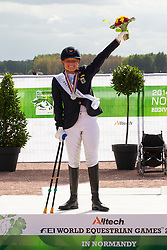 Brenner Hannelore, (GER) - Freestyle Test Grade III Para Dressage - Alltech FEI World Equestrian Games™ 2014 - Normandy, France.<br /> © Hippo Foto Team - Leanjo de Koster<br /> 25/06/14