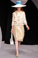 Iekeliene Stange walks the runway  at the Christian Dior Cruise Collection 2008 Fashion Show