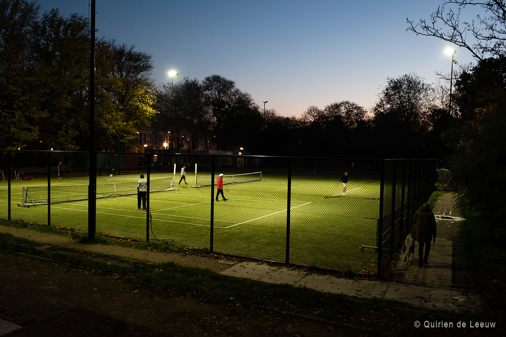 Tenniscourt in Amsterdam city center