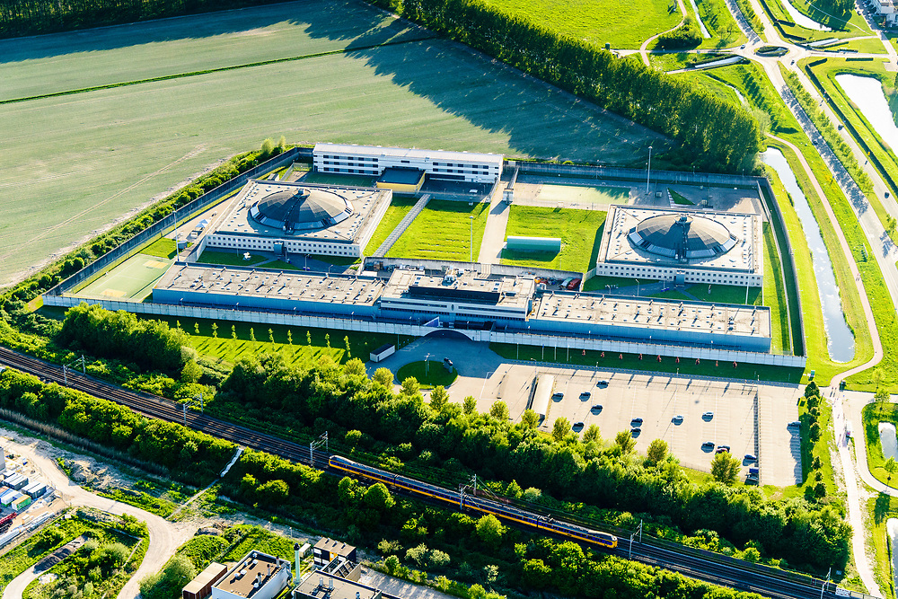Nederland, Flevoland, Lelystad, 07-05-2018; Lelystad, <br /> Penitentiaire Inrichting Lelystad en Detentieconcept Lelystad. <br /> Lelystad prison.<br /> <br /> luchtfoto (toeslag op standard tarieven);<br /> aerial photo (additional fee required);<br /> copyright foto/photo Siebe Swart