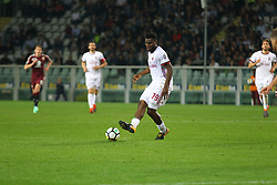 April 18, 2018 - Turin, Italy - Franck Kessie (AC Milan) in action during the Serie A football match between Torino FC and AC Milan at Olympic Grande Torino Stadium  on April 18, 2018 in Turin, Italy. .Final result: 1-1  (Credit Image: © Massimiliano Ferraro/NurPhoto via ZUMA Press)