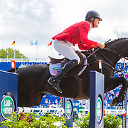 Boyd Martin (USA) and Tsetserleg at the 2018 FEI World Equestrian Games™ Tryon 2018 where Land Rover is the official vehicle sponsor, on September 17, 2018 in Mill Spring, North Carolina.