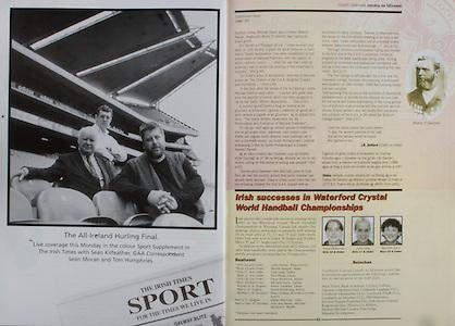 All Ireland Senior Hurling Championship - Final, .14.09.1997, 09.14.1997, 14th September 1997, .14091997AISHCF,.Senior Clare v Tipperary .Tipperary 2-16, Wexford 0-15,.Minor Clare v Galway, .The Irish Times, Sport,